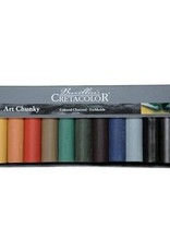 Cretacolor Chunky Charcoal, 12 Assorted Colors