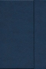 """India Dark Blue, Faux Leather, Journal with Dot Grid Pages, 6.25"""" x 8.5"""", 192 white pages, 80gsm, Magnetic Flap"""