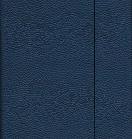 "India Dark Blue, Faux Leather, Journal with Dot Grid Pages, 6.25"" x 8.5"", 192 white pages, 80gsm, Magnetic Flap"