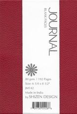 """India Burgundy, Faux Leather, Journal with Blank Pages, 192 white pages, 6.25"""" x 8.5"""", 80gsm, Magnetic Flap"""