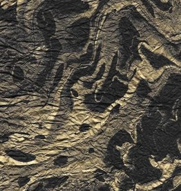 "Thailand Momi Marbled Black with Gold, 25"" x 36"", 30 gram"