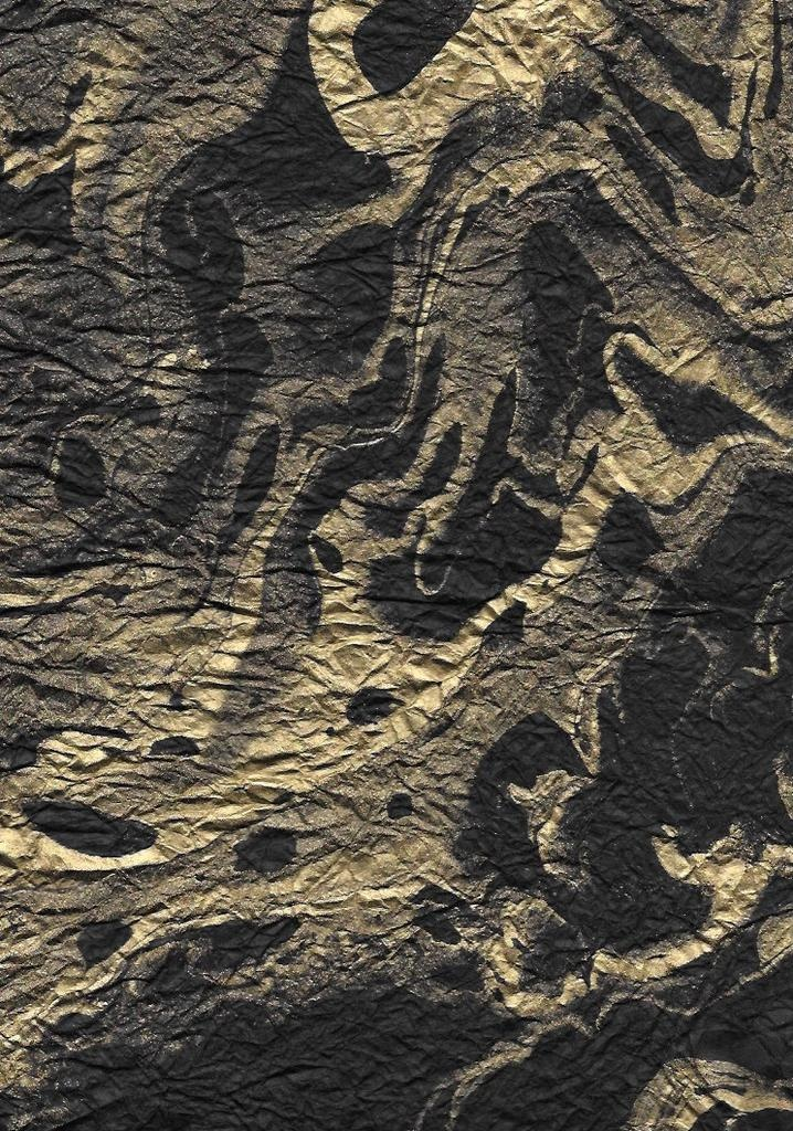 """Thailand Momi Marbled Black with Gold, 25"""" x 36"""", 30 gram"""