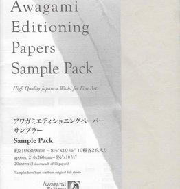 "Japan Awagami Select, Sampler Pack, 8.5"" x 11"", 20 sheets"