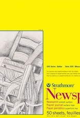 "Domestic Strathmore, 300 Series, Newsprint Pad, Rough, 18"" x 24"", 50 Sheets"
