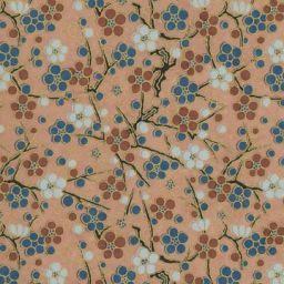 "Japan Yuzen 1446, 19"" x 25"", Beige/Circle Flowers"