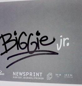 "Domestic Canson, Biggie Jr. Newsprint Pad, Rough, 18"" x 24"", 50 Sheets, 30lb / 45gm"