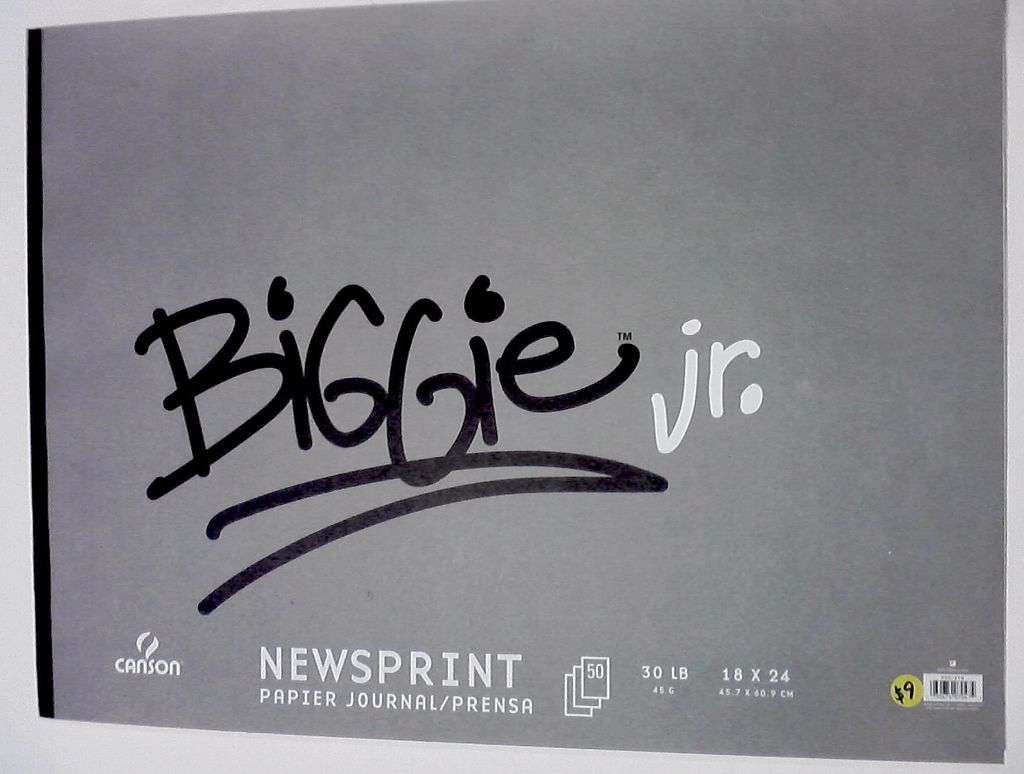 "Domestic Canson, Biggie Jr. Newsprint Pad, 18"" x 24"", 50 Sheets, 30lb / 45gm"