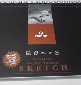 """Domestic Canson, Universal Sketch Book, 65#, 14"""" x 17"""", 100 Sheets"""
