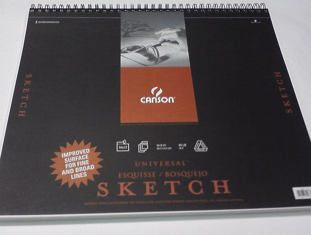 "Domestic Canson, Universal Sketch Book, 65#, 14"" x 17"", 100 Sheets"