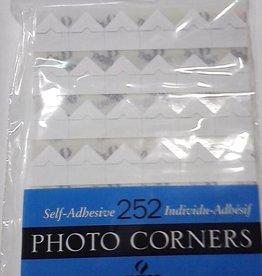 Photo Corners, 252 Self-Adhesive Corners, White