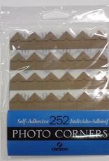Photo Corners, 252 Self-Adhesive Corners, Tan