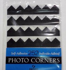 Photo Corners, 252 Self-Adhesive Corners, Black