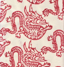 "Nepal Lokta Year of the Dragon, 20"" x 30"""