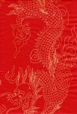 "China Golden Dragon Red, Sumi, 27"" x 54"""