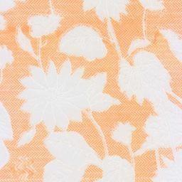 "India Floral Rayon Mandarin Orange, 22"" x 30"""