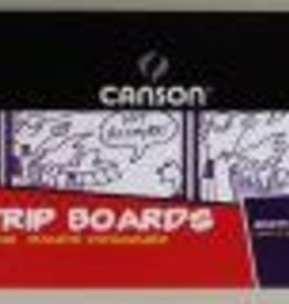 """Comic Strip Boards, 5"""" x 17"""", 14 Sheets, 150lb/250gm, Blank Comic Strip Boards with Blue Grid Outlines"""