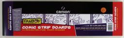 "Comic Strip Boards, 5"" x 17"", 14 Sheets, 150lb/250gm, Blank Comic Strip Boards with Blue Grid Outlines"