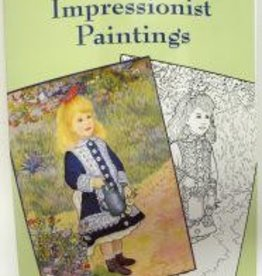 Color Your Own IMPRESSIONIST Paintings, Coloring Book