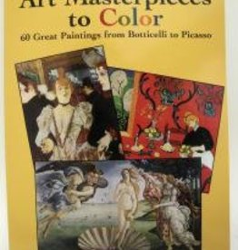 Art Masterpieces to COLOR: 60 Great Paintings from Botticelli to Picasso, Coloring Book
