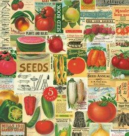 "Italy Cavallini Print, Garden Ephemera, 20"" x 28"""