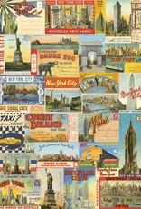 "Italy Cavallini Print, New York Post Cards, 20"" x 28"""
