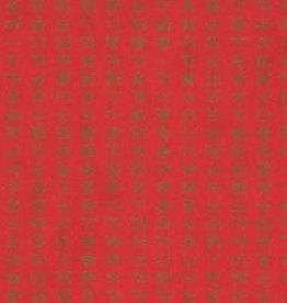 "Korea Hanja Script Red, 19"" x 25"""
