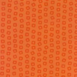 """India Indian Gel Print, Orange Squares, 22"""" x 30"""" Limited Quantity"""