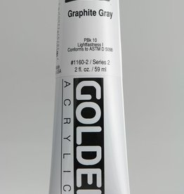 Golden, Heavy Body Acrylic Paint, Graphite Gray, Series 2, Tube, 2fl.oz.