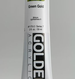 Golden, Heavy Body Acrylic Paint, Green Gold, Series 7, Tube, 2fl.oz.