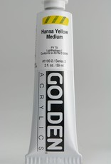 Golden, Heavy Body Acrylic Paint, Hansa Yellow Medium, Series 3, Tube, 2fl.oz.