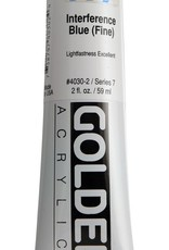 Golden, Heavy Body Acrylic Paint, Interference Blue, Series 7, Tube, 2fl.oz.