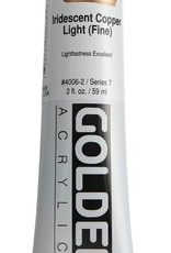 Golden, Heavy Body Acrylic Paint, Iridescent Copper Light, Series 7, Tube, 2fl.oz.