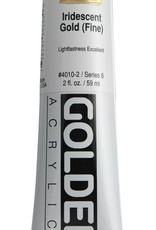 Golden, Heavy Body Acrylic Paint, Iridescent Gold Fine, Series 6, Tube, 2fl.oz.