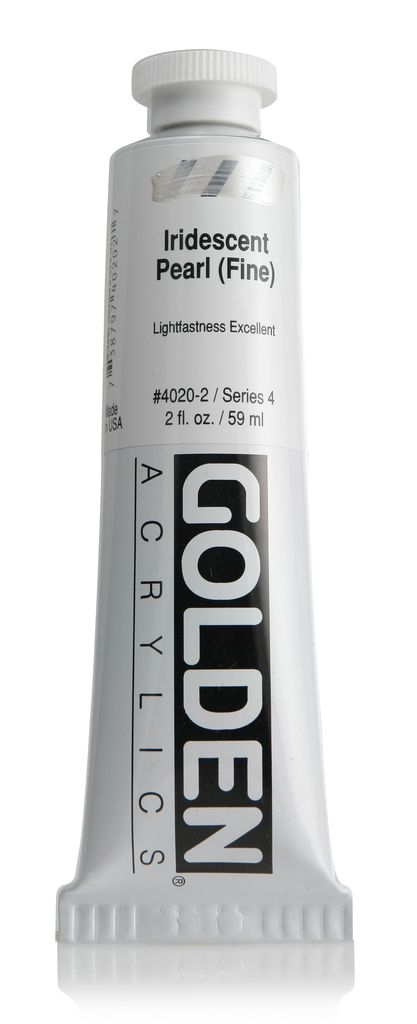 Golden, Heavy Body Acrylic Paint, Iridescent Pearl Fine, Series 4, Tube, 2fl.oz.