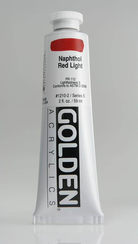 Golden, Heavy Body Acrylic Paint, Napthol Red Light, Series 5, Tube, 2fl.oz.