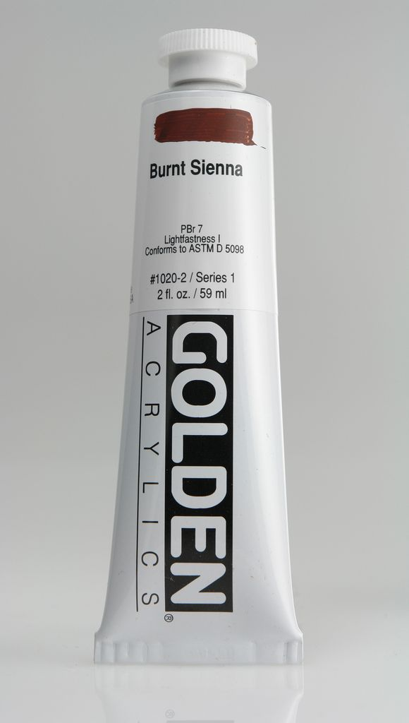 Golden, Heavy Body Acrylic Paint, Burnt Sienna, Series 1, Tube, 2fl.oz.