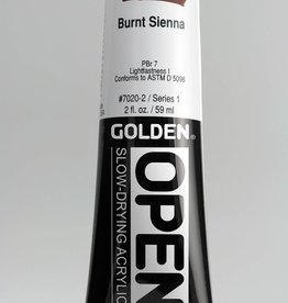 Golden OPEN, Acrylic Paint, Burnt Sienna, Series 1, Tube (2fl.oz.)