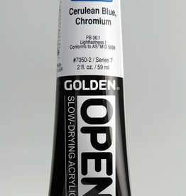 Golden OPEN, Acrylic Paint, Cerulean Blue Chromium, Series 7, Tube (2fl.oz.)