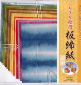"Japan Origami, 6"" x 6"", Itajimeshi, 4 Different Patterns, 16 Total Sheets"