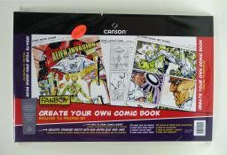 """Create Your Own Comic Book, 11"""" x 17"""", Contains: 20 Art Boards, 2 Comic Book Cover Sheets, 2 Concept Sketch Pages, 4 Comic Layout Pages"""