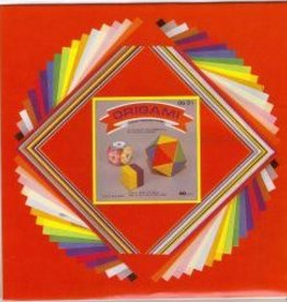 "Japan Origami, 7"" x 7"", 3 Different Sizes, Multi Color Folding Paper, 60 Total Sheets, OG1"