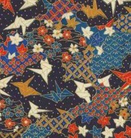 "Japan Yuzen 3760, Origami Cranes, 19"" x 25"""