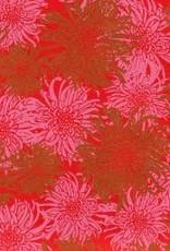 "India Laurelai Chrysanthemum on Red, 20"" x 28"""