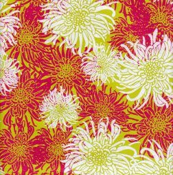 "India Laurelai Chrysanthemum on Lime, 20"" x 28"""