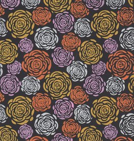 "India Colorful Mums on Black, 22"" x 30"""