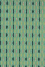 "India Retro Beads on Aqua, 22"" x 30"""