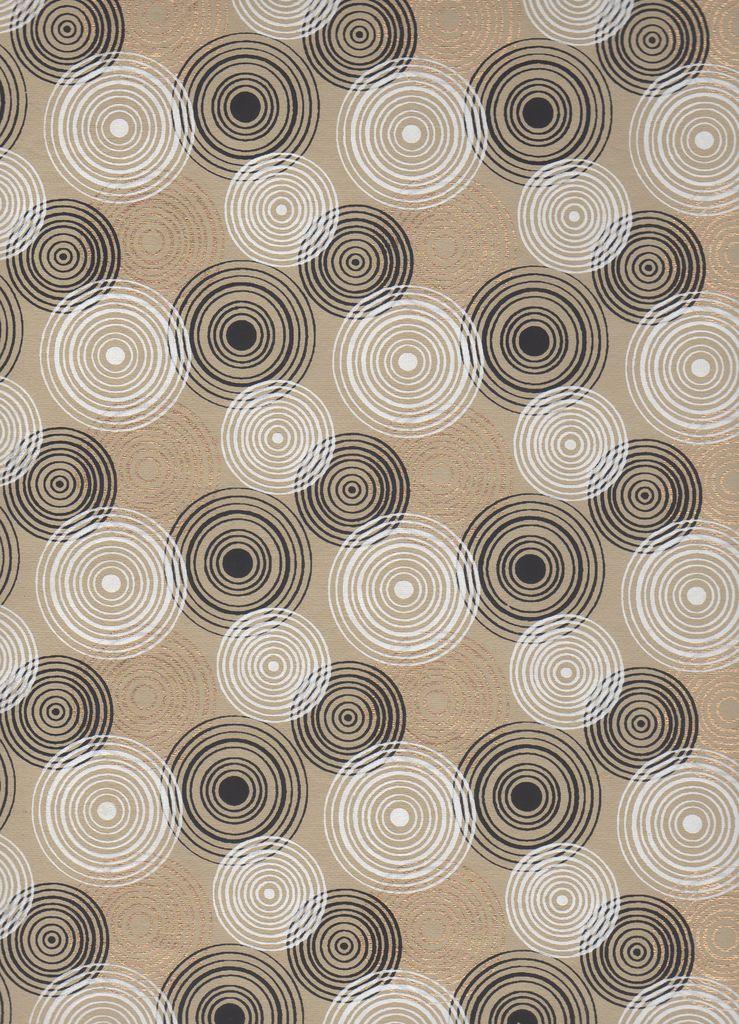 "India Radial Circles, White, Gold, Black 22"" x 30"""