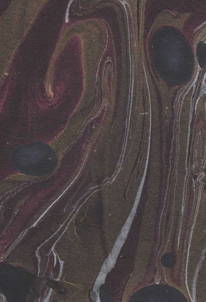 """India Indian Marble, Black with Red, Turkish Design, Gold, Silver, 22"""" x 30"""""""