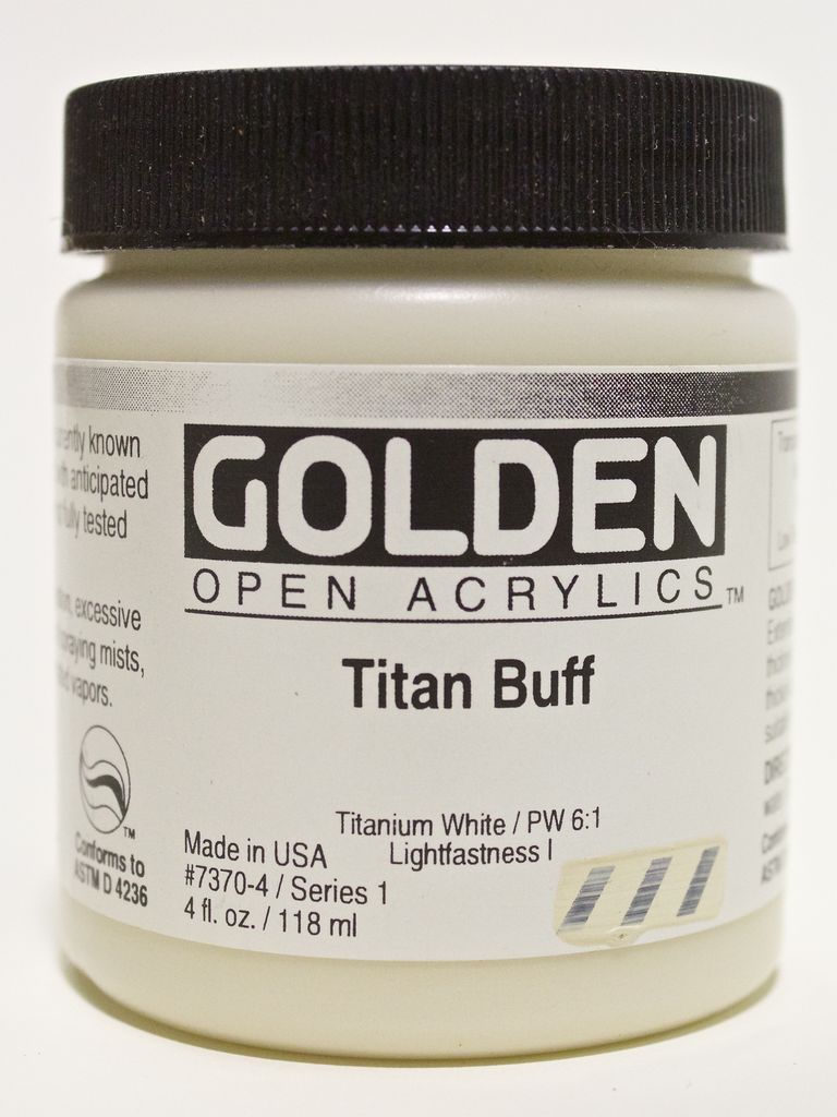 Golden OPEN, Acrylic Paint, Titan Buff, Series 1, Jar (4fl.oz.)