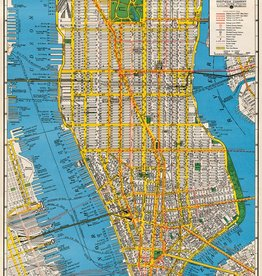 "Italy Cavallini Print, New York City Map, 20"" x 28"""
